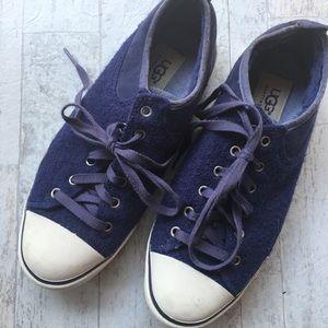 UGG Evera Leather Sheepskin Lined Sneakers Women 8